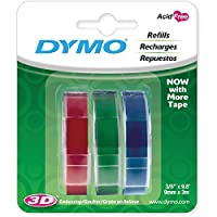 "Caption Maker Tape Refill 3/8""X9.8 Feet 3/Pkg-Red, Green And Blue"