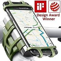 自行车摩托车手机支架,ANCwear 5 合 1 便携式充电器和手机支架,可调节硅胶通用贴合手柄和智能手机,如 iPhone Xs Max R X 8 Plus 7 三星 军*