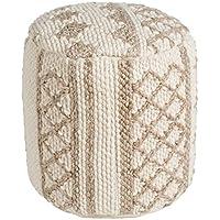 Artistic Weavers Kalahari 小袋,40.64 x 40.64 x 40.64 厘米,奶油色/灰褐色