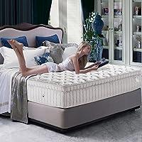 KingKoil 金可儿 美国 双人加厚弹簧床垫 偏软席梦思1.51.8米 珍品 万达文华 1800mm*2000mm 白色