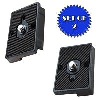 快速释放板适用于 MANFROTTO 496RC2 快速连接适配器(2 件套)