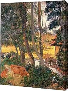 """PrintArt GW-POD-64-372975-9x12 """"旁的边缘"""" Paul Gauguin 画廊装裱艺术微喷油画艺术印刷品,22.86 cm x 30.48 cm"""