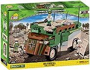 COBI 2525 隆美尔的长毛象式指挥车 拼插玩具,绿/棕/米色