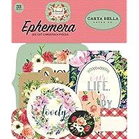 Carta Bella Paper Company CBBO98024 植物花园 Ephemera,粉色,*,黑色,红色,奶油色