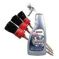 Sonax Wheel Cleaner *和细节刷套装(3 件套)