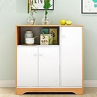 暖白收纳柜沙发边柜厨房置物架多层家用置物柜书柜床头柜建议多功能橱柜经济性碗柜餐具柜(北欧枫木色色) (E款)