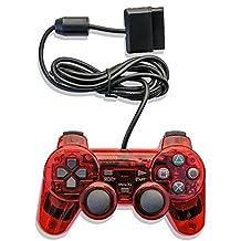 PS2 ElementDigital 有线游戏控制器,银式有线游戏垫游戏控制台游戏操纵杆,兼容 PlayStation 2