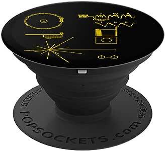 经典 NASA Voyager Golden Record PopSockets 手机和平板电脑握架260027  黑色