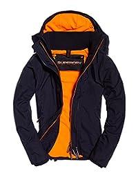 Superdry Pop 拉链帽北极 Wndcheater Nb 深海底/紧急橙色