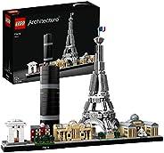 LEGO 乐高 21044 巴黎建筑模型,埃菲尔铁塔和罗浮宫,天际线集合,建设收藏礼物的想法