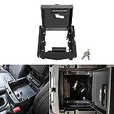 *控制台插入锁定器羽绒控制台*重型扶手储物锁箱适用于 2018 2019 Jeep Wrangler JL JLU