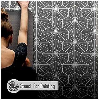 YASUGI 瓷砖家具墙壁地板模板 绘画用 透明 Medium