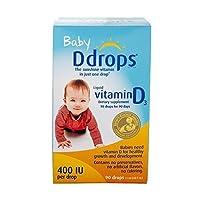 【跨境自营】 美国版 加拿大 Ddrops 婴儿天然维生素D3 滴剂90滴 助钙吸收(加拿大品牌) 包税