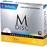 三菱化学媒体 M-DISC 1次记录用 BD-R DL DBR50RMDP5V1 (单面3层/1-6倍速/5片)