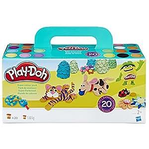 Hasbro 孩之宝 Play-Doh 培乐多 A7924EU9 超级彩色套装 (20 件装) 黏土