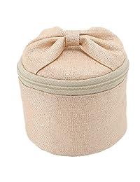 索菲亚 首饰袋 圆形 粉色 サイズ:6×8×8cm -