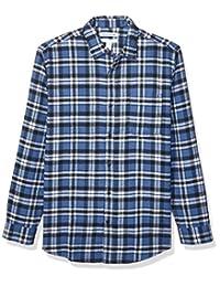 Amazon Essentials Men's Long-Sleeve Large-Scale Plaid Flannel Shirt