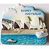 Opera House SYDNEY AUSTRALIA 树脂 3D 冰箱冰箱泰国磁贴手工制作。 由泰国MCnets 制造