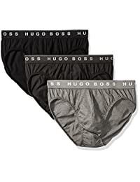 Hugo Boss 雨果博斯 BOSS 男式三角裤 3 条装 Us Co 10145963 01  Charcoal/Black/Dark Grey Large