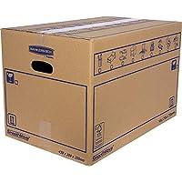 10件装纸板盒,带手柄,可用于搬运、储存和运输,超轻,43 x 30 x 25厘米(尺寸M),32升,加固单通道