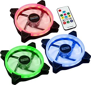 Lamptron NASA RGB-LED-Ring 风扇LAMP-NASA12254 120mm (3er Set inkl. Controller)