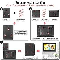 MRQ 數碼相框,適用于 10 英寸和 13.3 英寸和 14 英寸附件,可安裝在墻壁支架 黑色