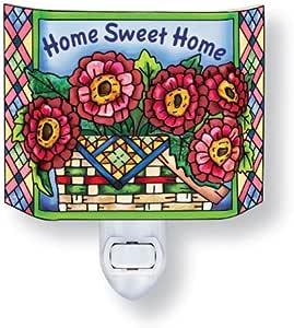 Amia 41555 Home Sweet Home 手绘玻璃三面夜灯,10.16 x 11.43 厘米