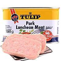 丹麦 原装进口 郁金香(Tulip)经典午餐肉罐头 340g (经典原味, 198g*3罐)