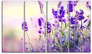 Designart 紫色 28'' Hx48'' Wx1'' D 4P PT9657-271