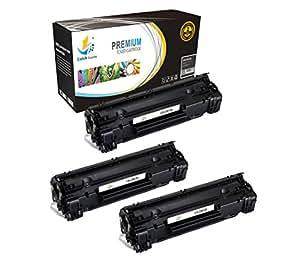 Catch supplies 替换3484b001aa 数黑色墨粉墨盒适用于 CANON 125系列  1,600  兼容 with THE CANON LBP6000, MF 3010打印机
