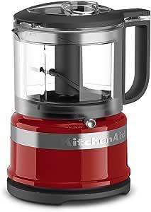 KitchenAid KFC3516ER 3.5 Cup Mini Food Processor - Empire Red, 需配变压器