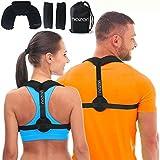 Posture Corrector 男女通用 - 可调节背支撑肩背部和颈部* - Scoliosis Kyphosis 和锁骨支撑 - 加颈枕和旅行包