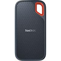 SanDisk 闪迪 1TB Extreme便携式外部固态硬盘-高达550MB / s-USB-C,USB 3.1-SD固态硬盘E60-1T00-G25