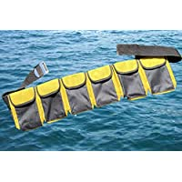 AKM-Scuuba 潜水口袋重量腰带黄色(6 口袋大号)