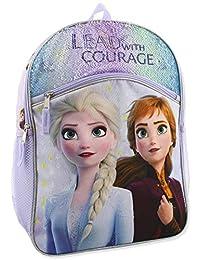 Frozen 2 Elsa Anna 女孩 16 英寸翻转亮片学生背包