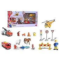 Dickie Toys 203096005 消防员山姆主题套装游戏套装,多件,多色