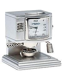 Sanis Enterprises 銀色 3.81 厘米 x 3.81 厘米 x 6.35 厘米咖啡機臺鐘