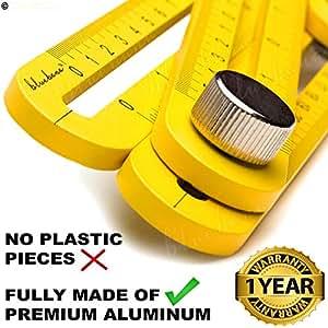 适用于 DIY 员工的重型铝质多角度测量标尺 – 工业级模板工具 – 瓷砖地板+免费防护袋和手册,送给男士女士 Xeroly 布局工具 Bluebana 出品