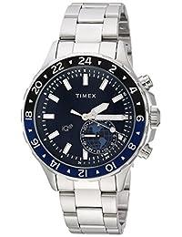 Timex IQ+ 移动多时间不锈钢手链TW2R39700 analog 不锈钢 银色 TW2R39700VQ casual-watches