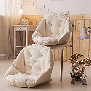 喜禾 Hiho 创意毛绒餐椅垫 学生加厚保暖坐垫 办公室护腰坐垫靠垫 YJ-013 (米色)