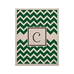 """Kess InHouse """"字母 C 交织字母 V 形*""""原创天然画布,50.8 x 60.96 厘米"""