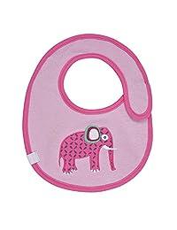 """Lassig Water Repellent Bibs for Infants, Wildlife Elephant, 9"""""""