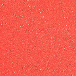 "Siser Glitter HTV 50.8 cm x 30.48 cm 床单 - 热转印乙烯基 霓虹葡萄柚 20"" x 12 Inches Siser Glitter 20"" x 1 Foot"