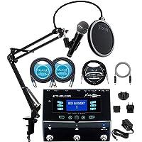 TC Helicon Play 声学声效录音盒套装带 R21S 动态麦克风,Blucoil 10 英尺直乐器电缆(1/4 英寸),2x 10 英尺 XLR 电缆,5 英尺音频辅助电缆和 Boom Arm Plus 流行过滤器