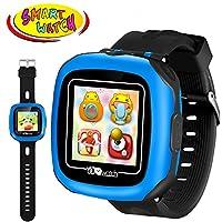 儿童游戏智能手表 - 数字手腕运动智能手表 3-12 岁男孩女孩带 3.81 厘米触摸屏摄像头计步器闹钟户外活动健身追踪假日学习玩具 学校礼物