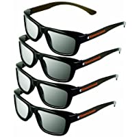 ED 4 件裝 CINEMA 3D 眼鏡 LG 3D 電視 - 成人尺寸被動圓形偏光 3D 眼鏡