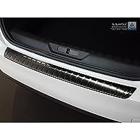 """Auto Style 2/45152 不锈钢后保险杠保护膜 308 II HB 5 门贴膜 2017-'罗纹"""",黑色"""