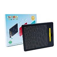 Aynat 趣味磁性绘画板适合幼儿,带绘画笔 – STEM 玩具适合 3 至 7 岁儿童 – 有趣的涂鸦板提高精细运动技能 – 儿童磁性平板电脑,正方形,黑色 Square Black 黑色