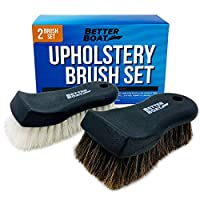 Upholstery Cleaner 磨砂刷套装清洁刷和马鬃细节刷,适用于汽车内饰、座椅、船只、沙发和地毯
