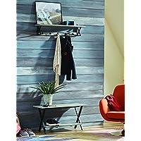 Alaterre Furniture Cornerstone 大衣钩和长凳套装,灰色